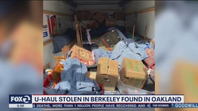 Stolen U-Haul with family memorabilia found in Oakland