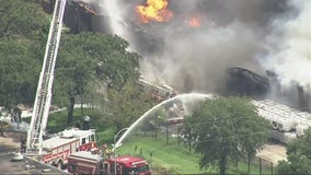 Shelter-in-place ordered as firefighters battle massive blaze at southwest Houston warehouse