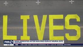 Police: Man arrested after waving gun at Black Lives Matter mural site in Martinez