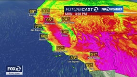 WEATHER FORECAST: Temps 5-10 degrees cooler Monday, foggy along the coast