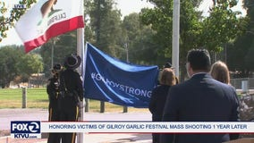 'Gilroy Strong:' City leaders hold flag raising ceremony to honor mass shooting victims one year later
