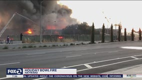 Famous Hayward bowling alley catches fire