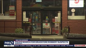 Suspects rob drug store and run over Berkeley police officer's foot