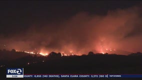 Crews Fire forces evacuations as blaze burns 2,000 acres near Gilroy