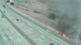Fire shuts down southbound I-680 near Benicia Bridge