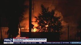Fire at PG&E substation in San Ramon difficult to put out; no fire hydrants nearby