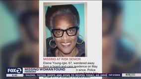 Missing Hayward woman found safe, sitting outside restaurant