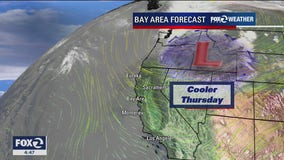 Cooler Thursday, warm-up on the way