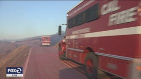 Wildfire burns for third straight day near Gilroy