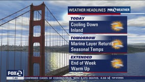 Weather forecast: Monday brings break from heat
