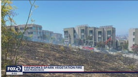 Illegal fireworks cause 2-acre brush fire in San Francisco