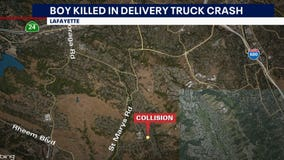 Boy riding bicycle killed in collision with Amazon delivery vehicle in Lafayette