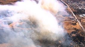 Forward progress stopped on grass fire burning east of Highway 80 in Crockett