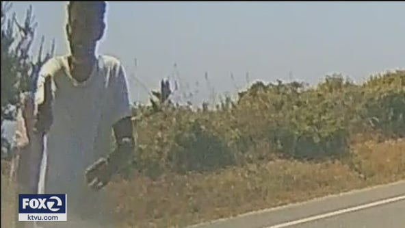 Chilling dashcam video shows carjacking suspect confronting drivers at gunpoint in Santa Cruz