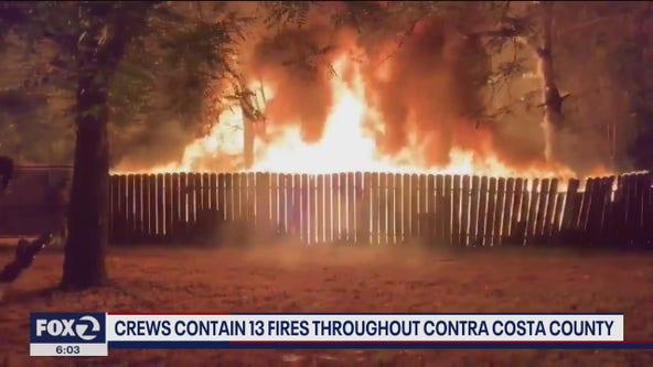 Crews contain 13 fires throughout Contra Costa County