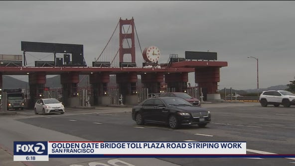 Possible delays as Golden Gate Bridge road striping continues Sunday night