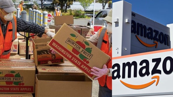 Alameda County food bank partners with Amazon to deliver to coronavirus patients in need
