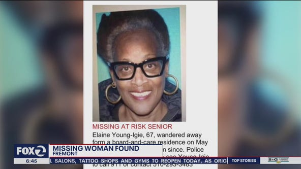 Missing Hayward woman found safe, sitting outside restaurant