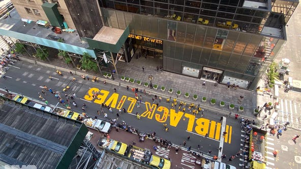 Black Lives Matter mural to be painted in front of Trump Tower in Manhattan