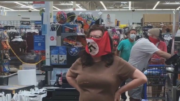 nazi face mask marshall