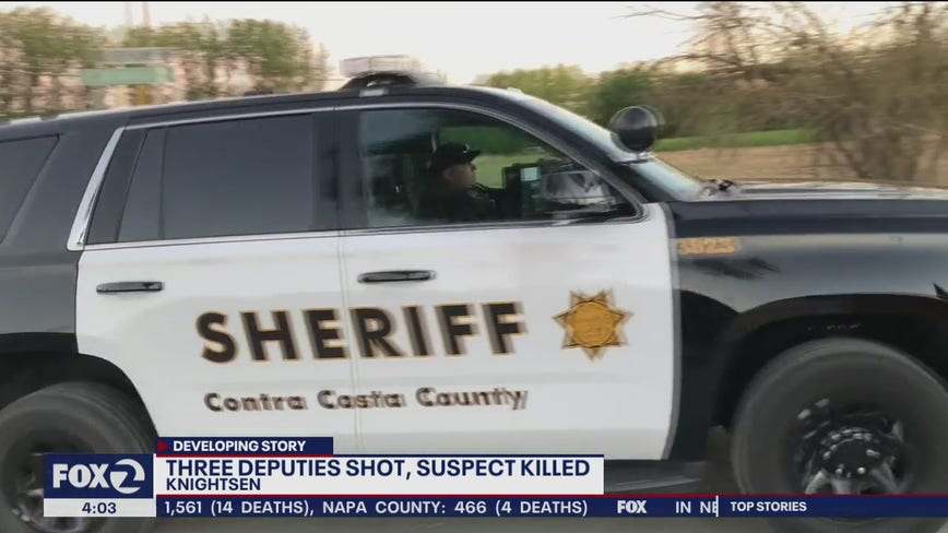 3 deputies shot, suspect killed following standoff in Contra Costa County