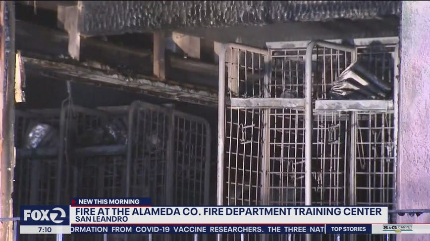 Blaze breaks out at Alameda County fire training center