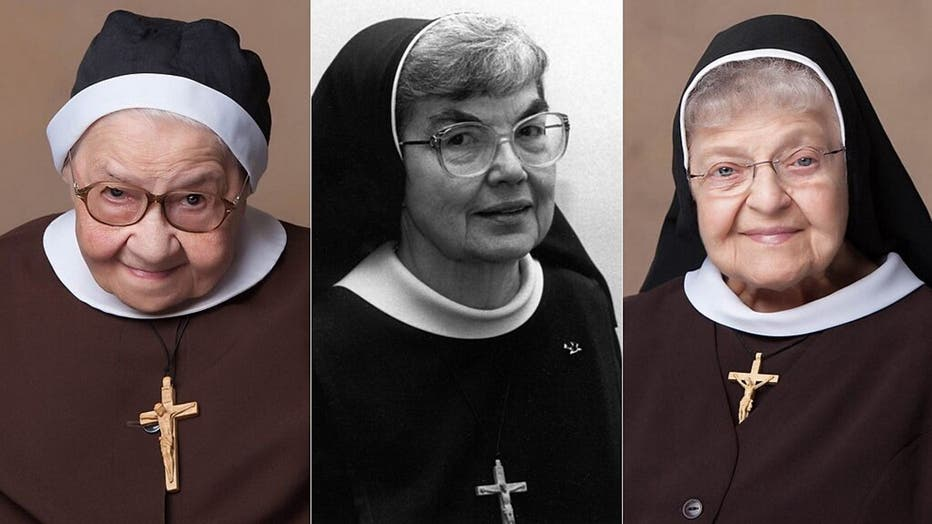 Three of the 13 nuns pictured - Sr. Mary Luiza Warzyniak, 99, died April 10; Sr. Celine Marie Lesinski, 92, died April 12; and Sr. Mary Danatha Suchyta, 98, died June 17.