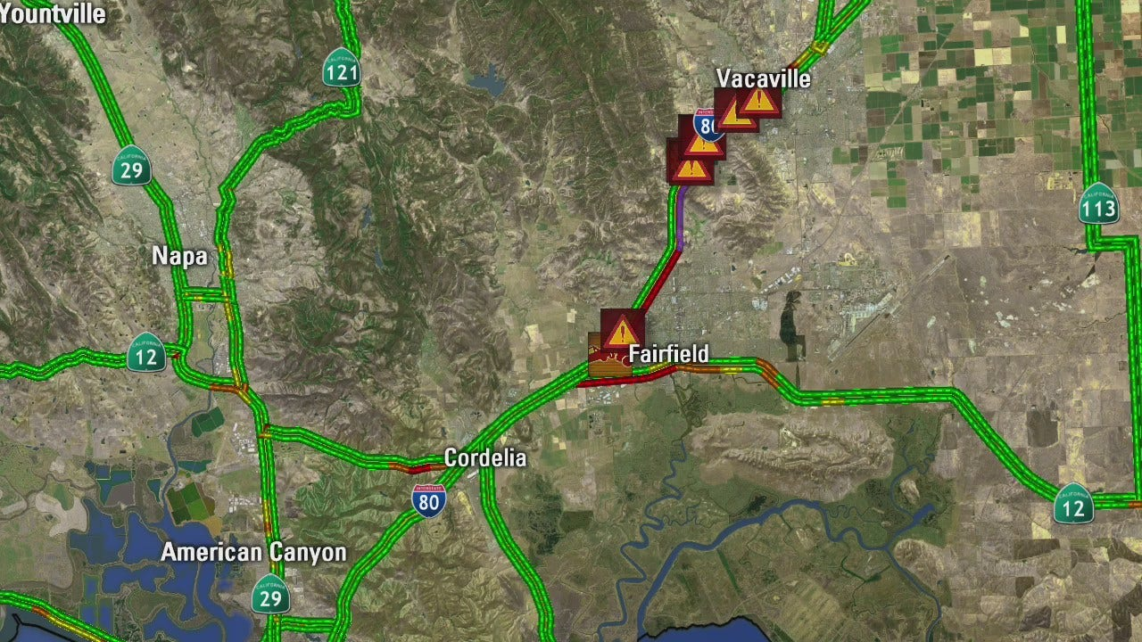 Evacuations ordered in Vacaville fire, I-80 closed in both directions