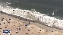 SkyFox captures beach goers properly distanced for pandemic during heat wave