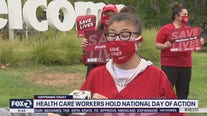 Health care workers hold National Day of Action