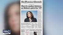 Kamala Harris makes front page news