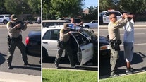 LA County Sheriff's deputies pull rifles on 3 Black teens as bystanders scream 'they're the victims!'