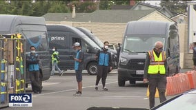 Amazon workers demand safer conditions at San Leandro warehouse