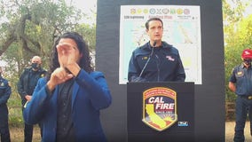 Sunday evening CZU Lighting Complex Fires press conference