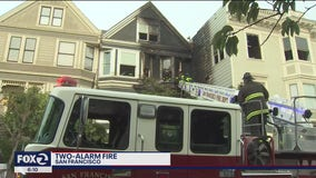 Two-alarm fire injures San Francisco firefighter