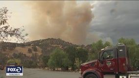Crews battling multiple vegetation fires sparked during Bay Area thunderstorm