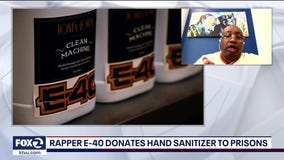 Rapper E-40 donates hand sanitizer to prisons