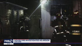 Oakland house fire investigated as arson