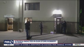 Four charged with stealing 27 guns from Hayward shop during height of police protests