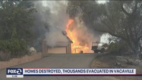 Thousands evacuated in Vacaville