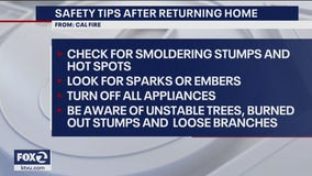 Safety tips for wildfire evacuees returning home