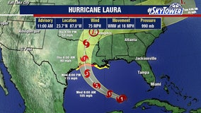 Hurricane Laura forms; projected to strengthen before Gulf Coast landfall