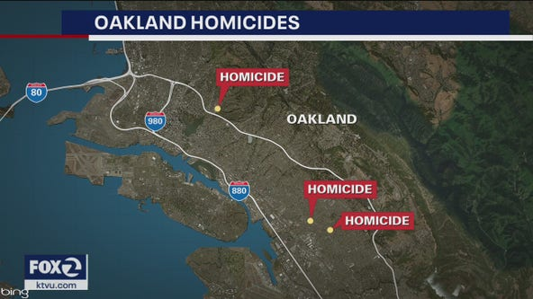 Oakland police investigating three homicides in 7-hour span