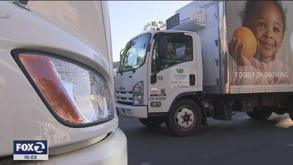 Vandalized Bay Area food bank trucks rendered inoperable