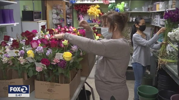 Florists add much needed color to seniors' lives in dark times