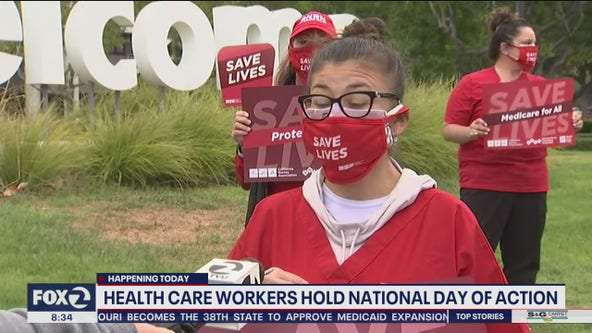 Health care workers take part in National Day of Action