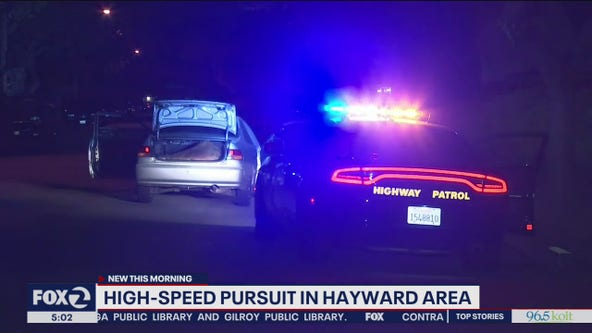 CHP officers chase driver in stolen car near Hayward