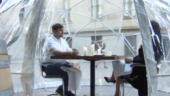 San Francisco sushi restaurant debuts outdoor dining domes