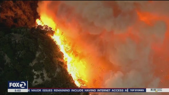 Bay Area crews sent to help battle raging Apple Fire near Los Angeles