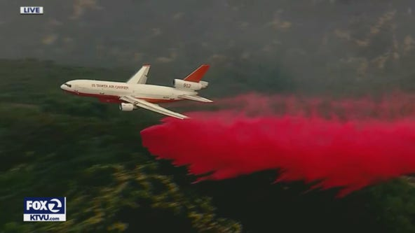 Crews try to tame massive forest fire north of Los Angeles